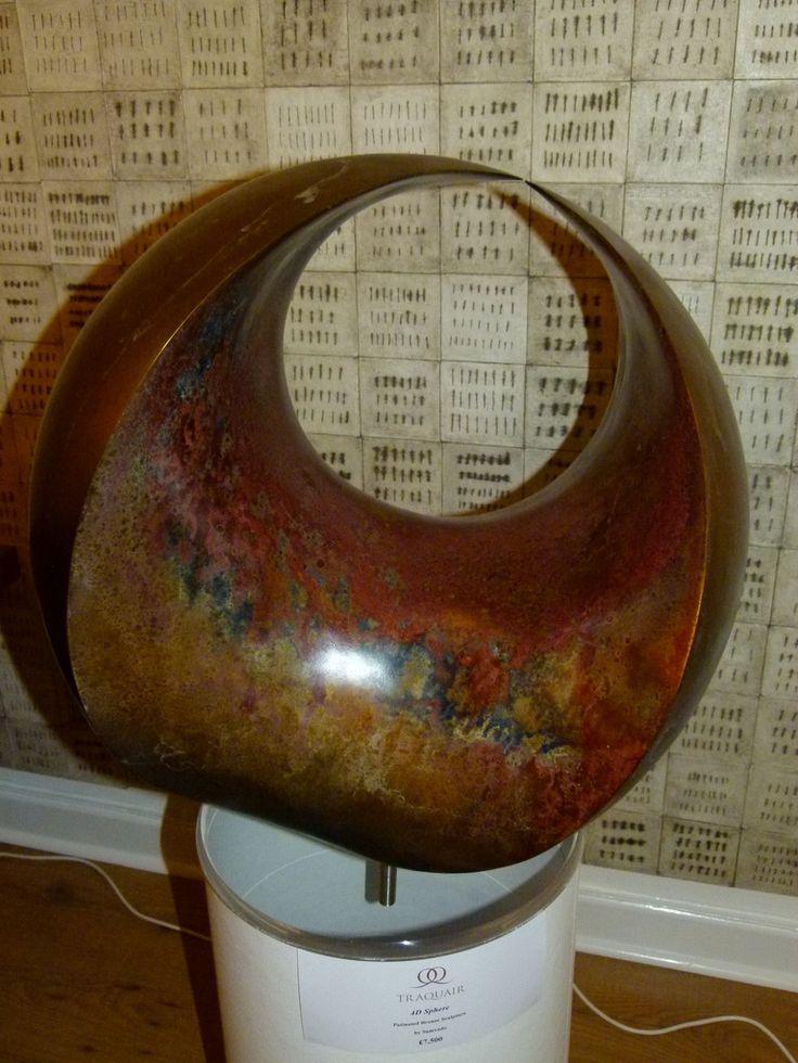 Современная абстрактная скульптура, 4D сфера в бронзе Samvado изображения 4