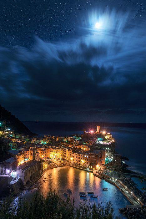 Magnificent Night in Vernazza ~ Cinque Terre, Italy