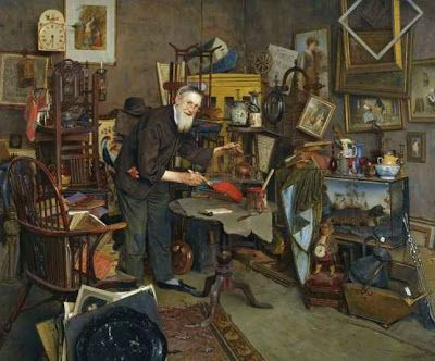 [THE OLD DEALER (THE OLD CURIOSITY SHOP)] signed l.r.: C. SPENCELAYH.  oil on canvas 20 by 24in Hammer Price with Buyer's Premium: 337,250 GBP