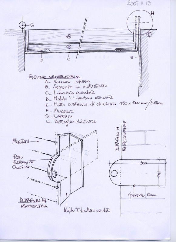 MOD livingstore - sketches for reusing door panel - coolstoodio