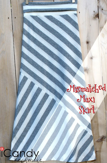 great tutorial! Mismatched Maxi Skirt