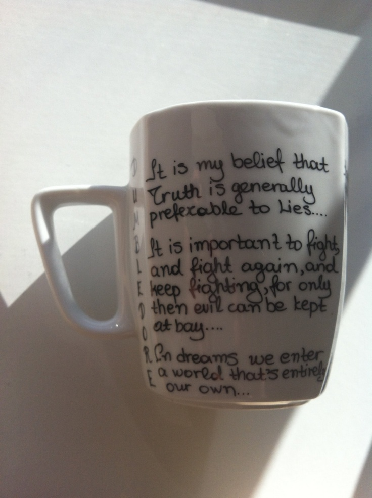 Harry Potter Mug with Albus Dumbledore quotes by litsakiv on Etsy, $16.00