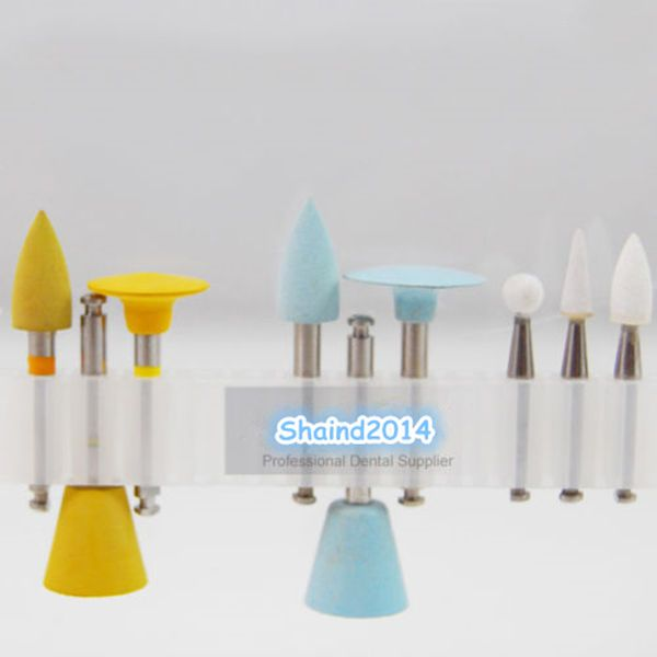 2X Dental Enamel and Porcelain Teeth Polishing Kits RA0409 Used For Low-speed  #Shaind2014