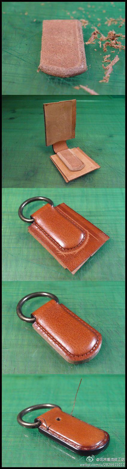 分享图片~~和大家分享一个小皮箱的制作,...@SAMBorges采集到Leather(3033图)_花瓣手工/布艺