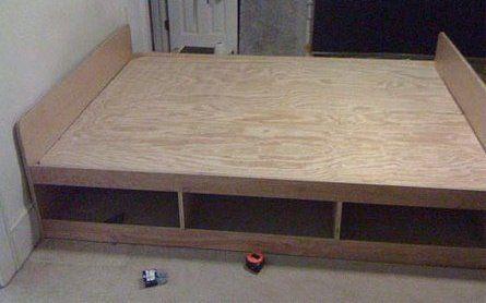 Diy Platform Bed Frame With Storage Uwkokbo Bedroom Wall