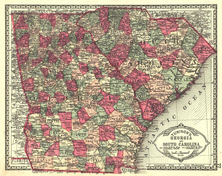 Best Georgia Images On Pinterest Globes Georgia And South - Map of georgia and south carolina