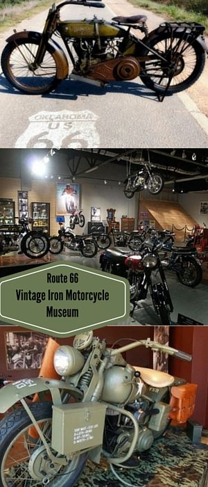 """Take a trip down the """"Mother Road"""" to the Route 66 Vintage Iron Motorcycle Museum! This museum is the ultimate stop for lovers of vintage motorcycles and memorabilia! It houses dozens of bikes including a 1917 Harley Davidson, a 1949 Indian Scout, and a 1957 Ariel just to name a few! Explore the fascinating museum and stop by the gift shop to take home something to remember your trip by!"""