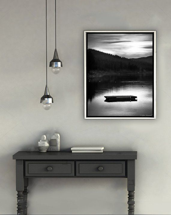 Lake House Art Black And White Lake Symmetrical Photography Etsy Home Art Lake House White Wall Decor