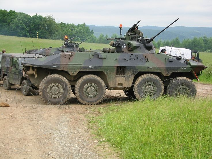 "German Army Bundeswehr Luchs 8x8 amphibious reconnaissance armoured fighting vehicle, unfortunately not in service anymore (phased out and replaced by the armoured recon car ""Fennek"")"
