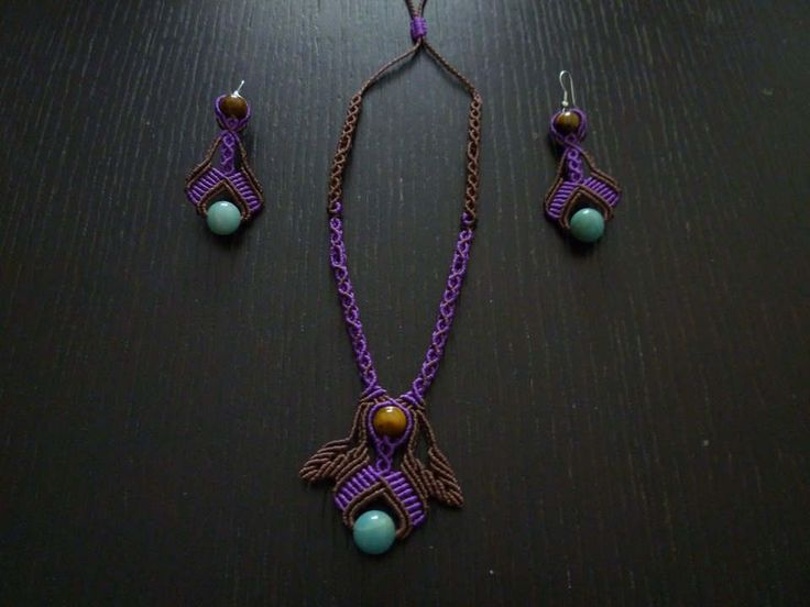 A minimal Macrame jewelry set by LettaCreations on Etsy