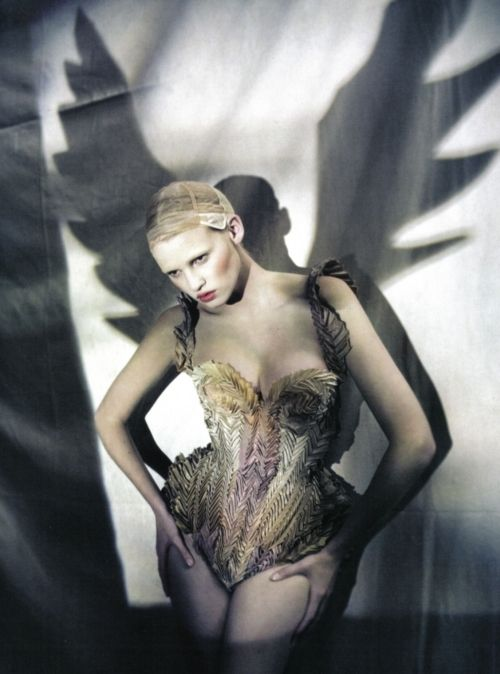 shadowPaoloroversi, Lara Stones, Paolo Roversi, Italian Vogue, Fashion Models, Jeans Paul Gaultier, Dark Angels, Fashion Photography, Angels Wings