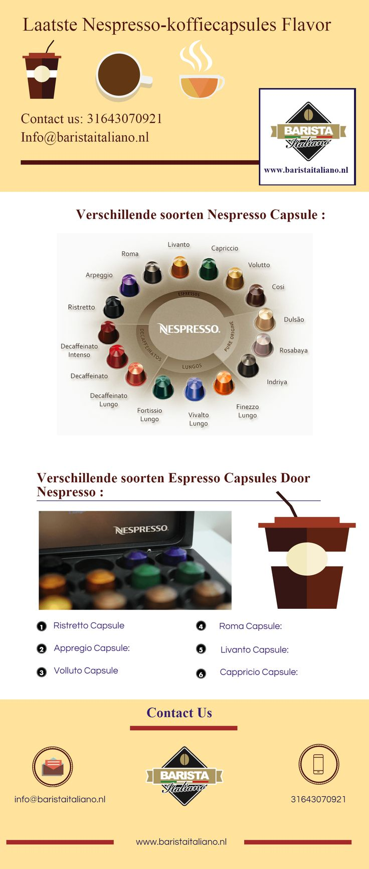 The Nespresso coffee cups were yummy. The flavors were unique and the variety of tastes great. That made ​​the choice quite difficult.