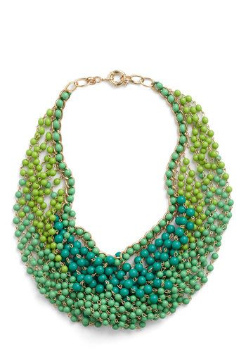 Statement of the Art Necklace in Peacock