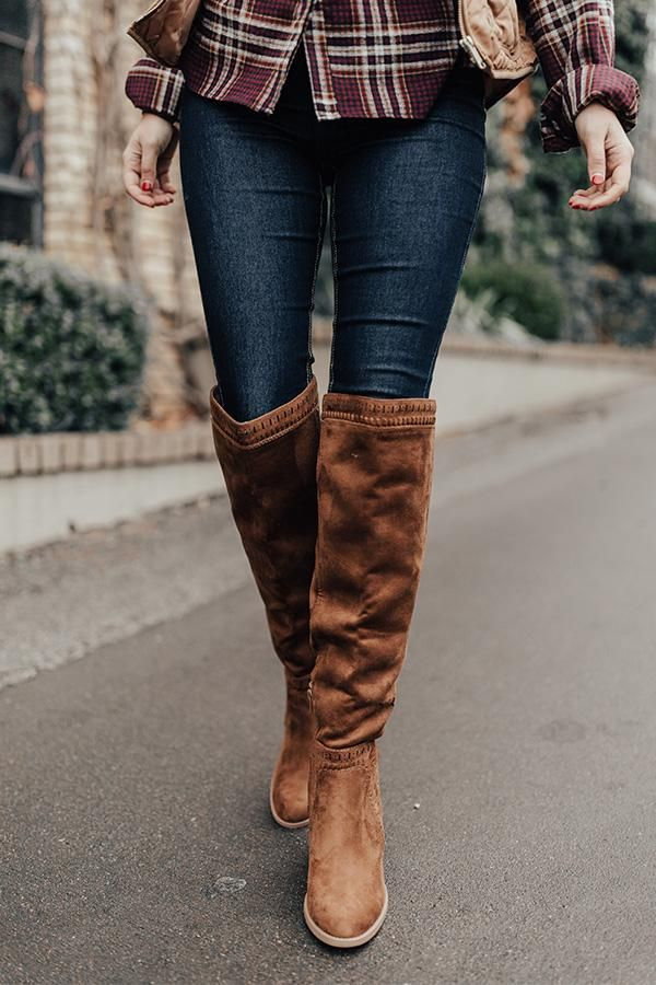 The Haven Faux Suede Knee High Boot in