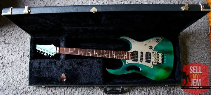Ibanez Jem 7BSB For Sale on Sellmyjem.com With Vintage Hard Case. Ready to rock!