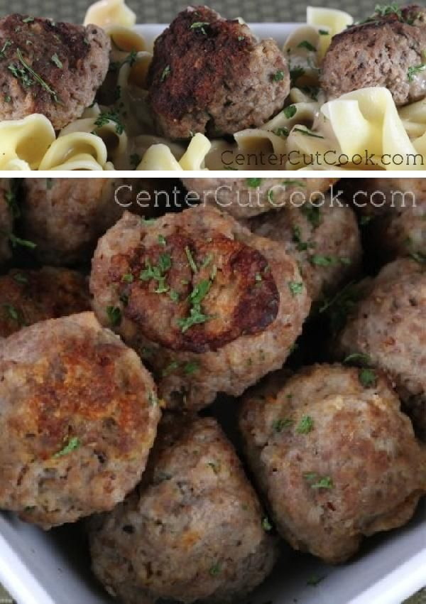Moist on the inside, golden brown and crisp on the outside, these Sweedish MEATBALLS go perfect served with egg noodles and topped with a creamy brown gravy.