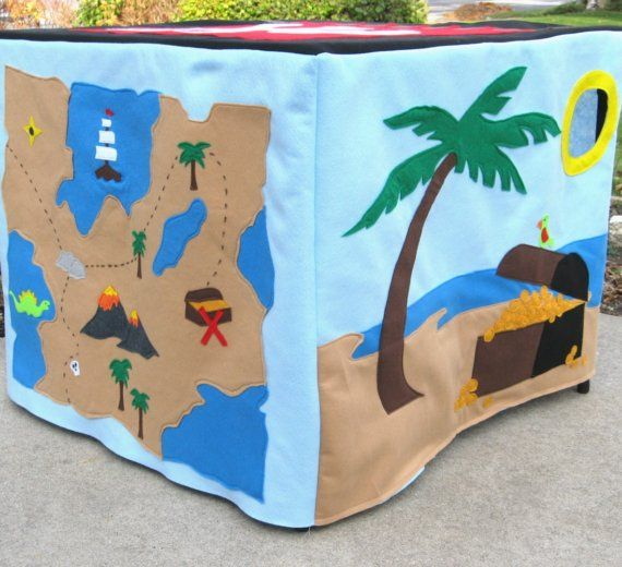 Pirate Card Table Playhouse, Personalized