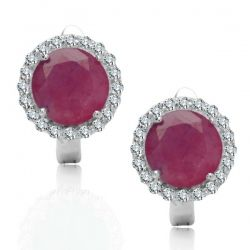#silverearrings, #rubies, #naturalstones, www.srebrno-zlota.pl - #online #shop with #gold and #silver #jewellery. Contact us: sklep@srebrno-zlota.pl