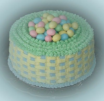 You Can frost an angelfood cake and fill the center with candy - Easy and Festive....