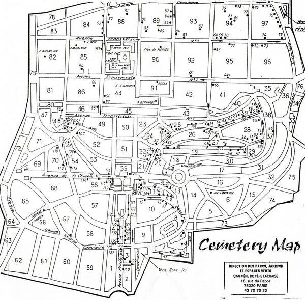 Super PDF map of Pere Lachaise. Spent a good part of a day wandering  LB65
