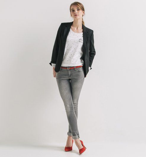 veste de tailleur femme noir promod mode pinterest. Black Bedroom Furniture Sets. Home Design Ideas