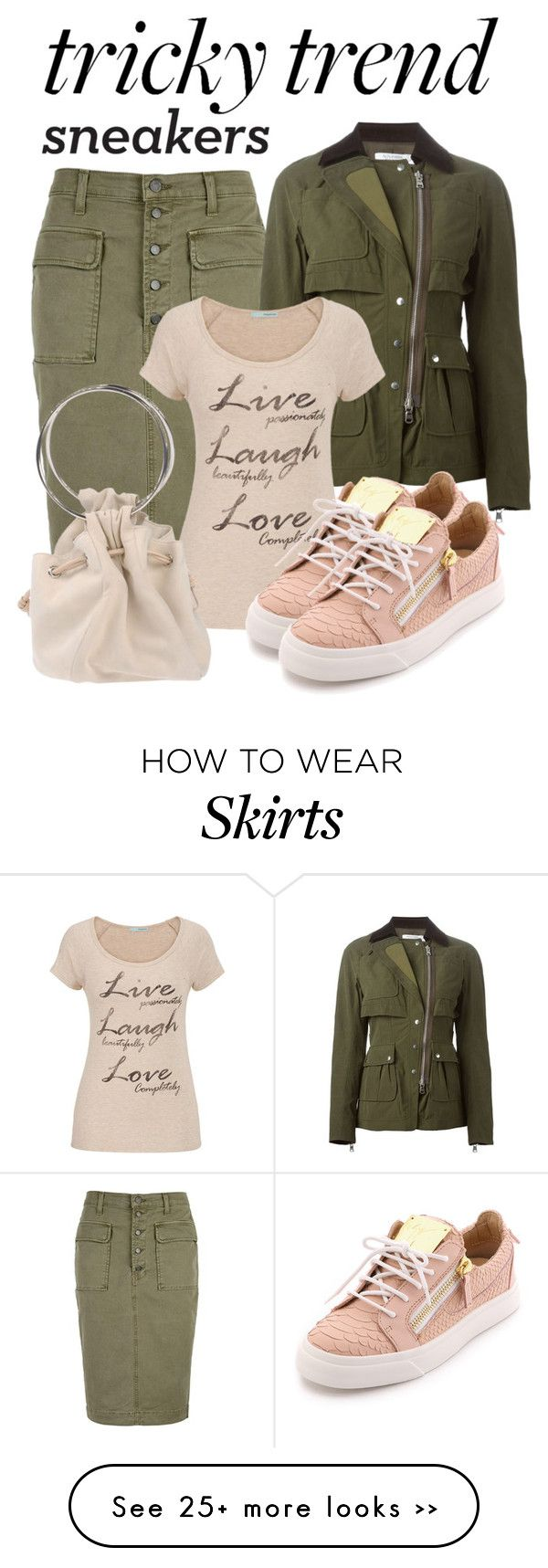 """Pencil Skirts & Sneakers"" by fantasiegirl on Polyvore featuring moda, J Brand, Altuzarra, maurices e Giuseppe Zanotti"