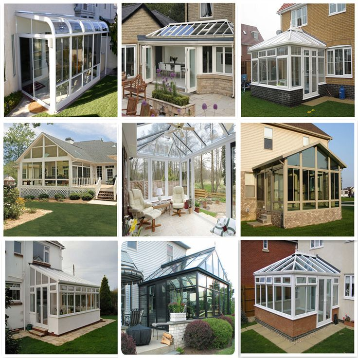 Heavy Duty Slope Prefabricated House Glass Conservatory