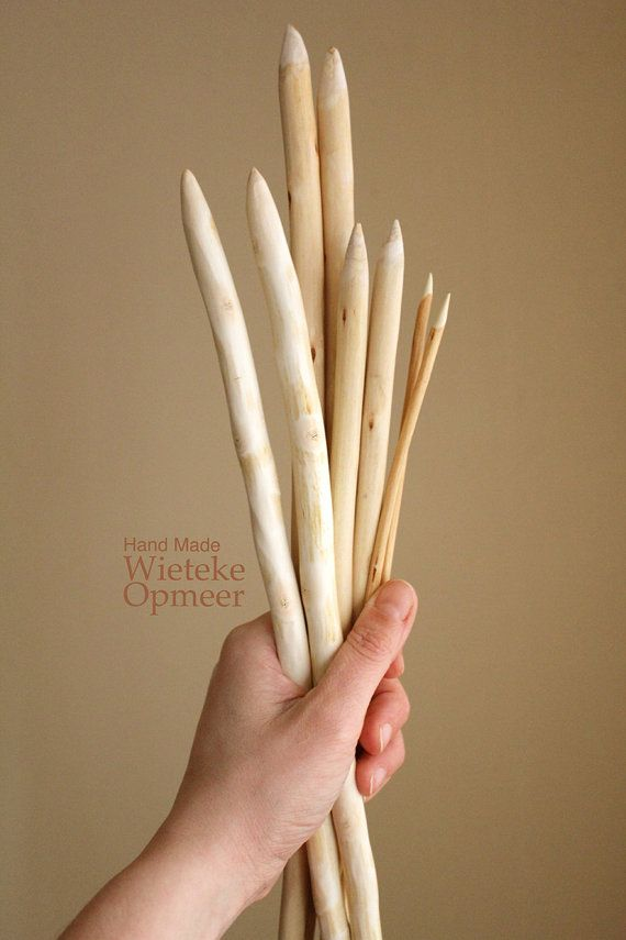 Pruning wood knitting needles.  I'd dowel them to a smooth and exact size then cap them to suit the knitters I know.