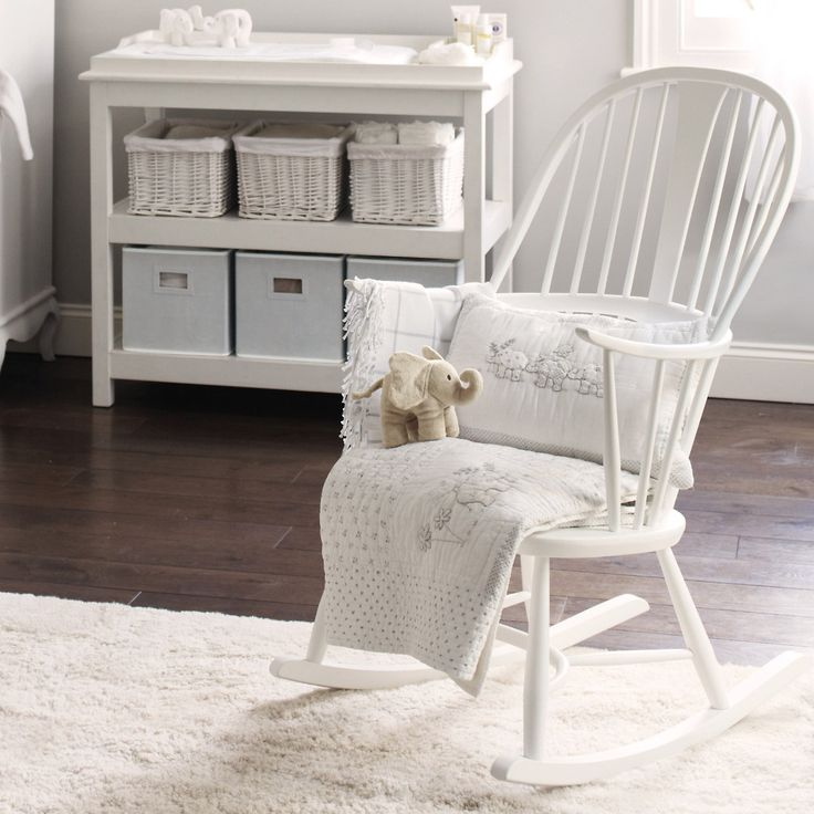 Buy Lookbooks > Home > Ercol Rocking Chair - White from The White Company