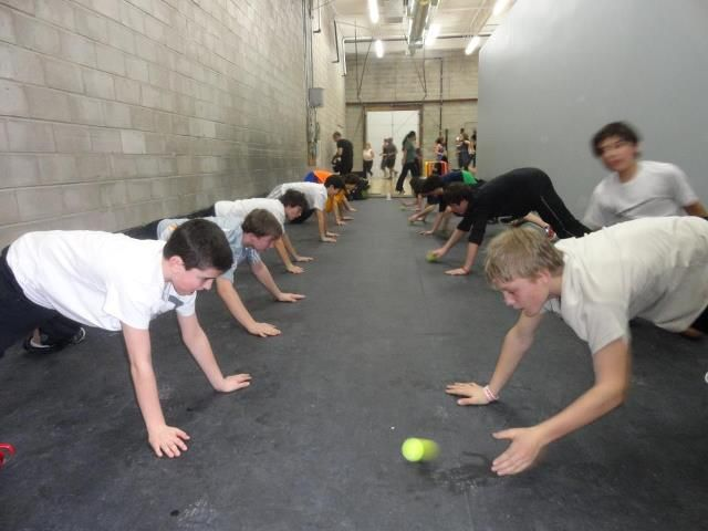 A fun game of plank hockey