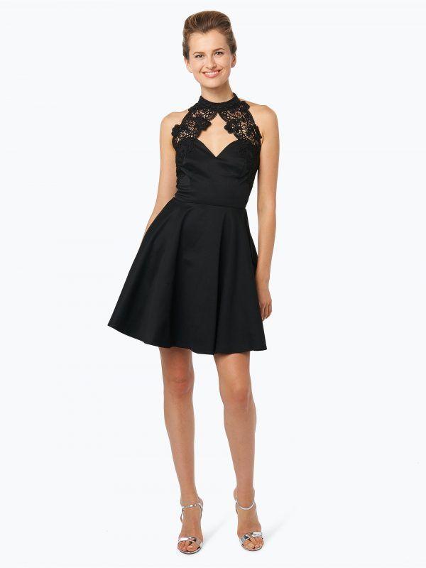 c2d84d38573afc Lipsy czarna sukienka koktajlowa z koronką w dekolcie - Sukienki na wesele  // Sukienki wieczorowe