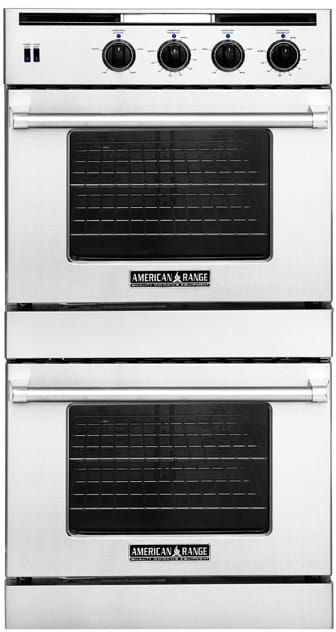 american range arossg230l 30 inch double chef door gas wall oven with 47 cu ft