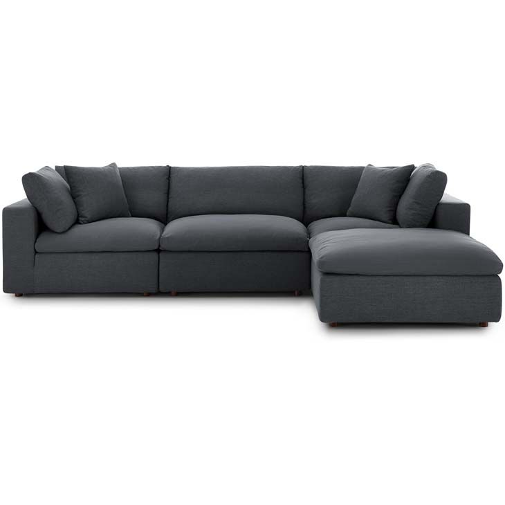 Jack Down Filled Over Stuffed Sofa With Ottoman Charcoal Eclectic Goods In 2020 Sofa Set Sectional Sofa Modern Sofa Set