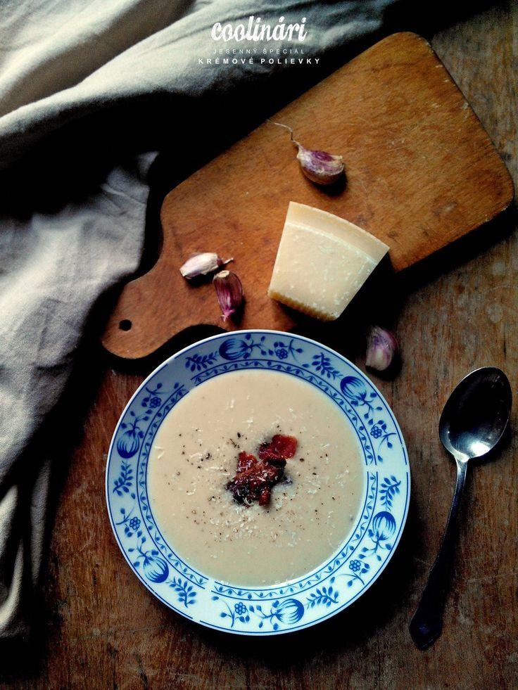 krémová cesnaková polievka, recept