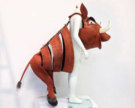 The Lion King costume: Pumba the Warthog. Child size. Fast shipping.  This is simply the best childrens Pumba costume - so easy to wear. Slip it