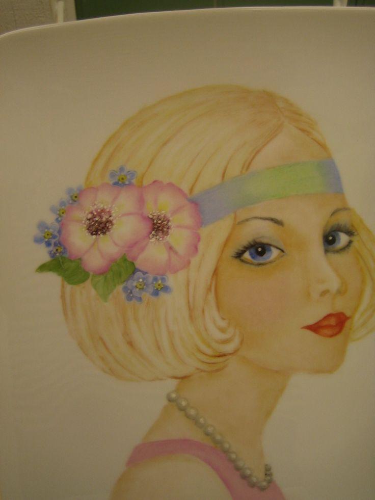 Kukkahiuksinen nainen