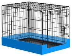 "A dog crate tray is around 1"" deep which is no good for containing litter or hay and can leave a lot of mess outside the crate. To solve this issue you can create a frame around the base of the crate using wooden skirting, Perspex or corrugated plastic (e.g. Correx). A deep tray (e.g. a storage box) containing any litter and bedding is another way to reduce the mess."
