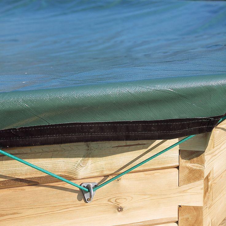 Pour l'hiver, pensez à nos bâche sécurité hivernage pour votre piscine bois | Manubricole.com
