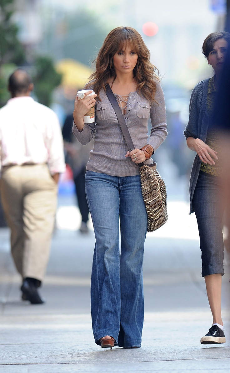 jennifer lopez - wide leg jeans rock