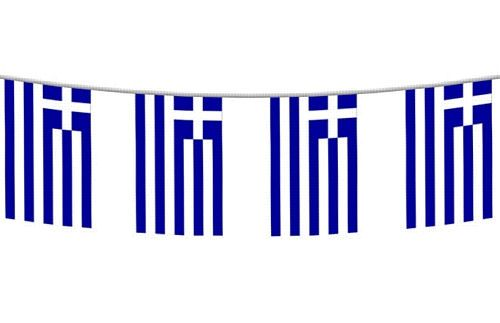 greek party decorations | 4m greek flag bunting world cup party decoration greek