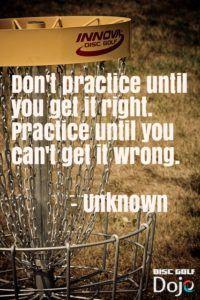 disc golf practice