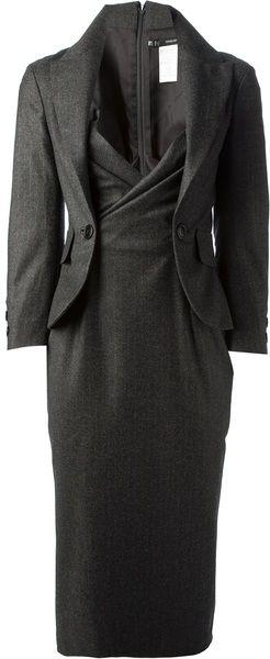 ~ Living a Beautiful Life ~ DSQUARED2 Gray Pinstripe Blazer Dress - Lyst