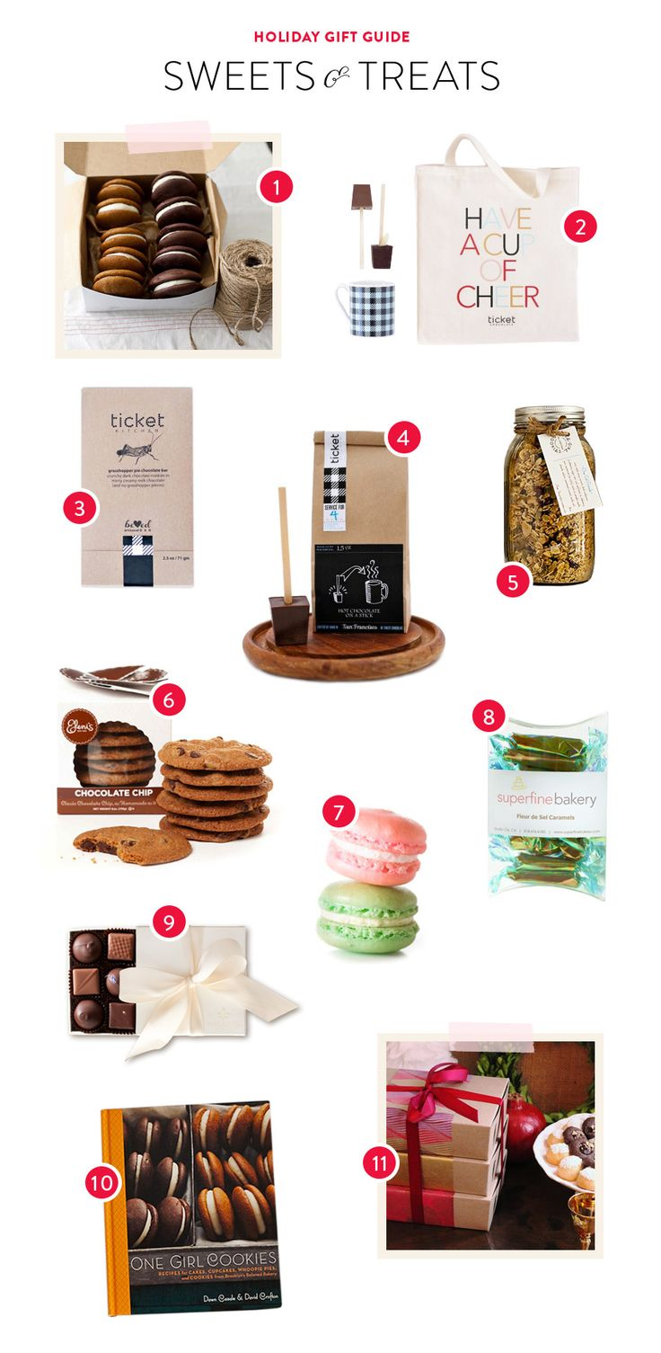 Perfect Timing for this Gift Guide of Sweets & Treats   See who makes them on Style Me Pretty ~ http://www.stylemepretty.com/little-black-book-blog/2013/12/12/gift-guide-sweets-treats/