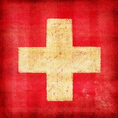 Switzerland Flag Art - Switzerland flag by Setsiri Silapasuwanchai
