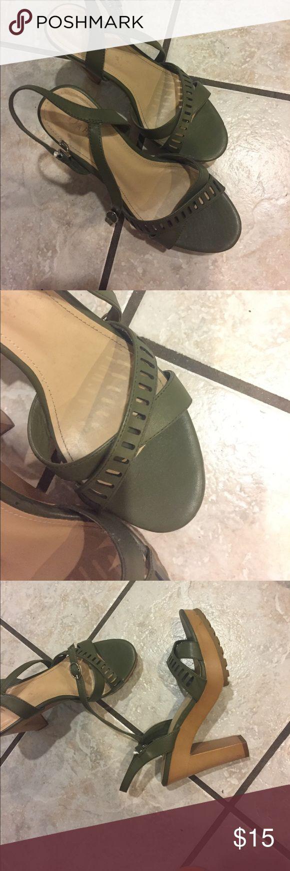 Dark green High heels High heel shoes, deep green color. Worn literally twice Daphne Shoes Platforms