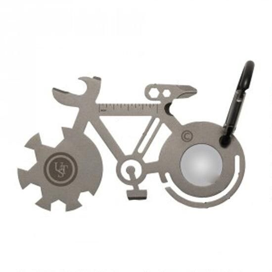 The UST Tool A Long Bicycle is a pocket-sized, stainless steel multi-tool that is designed to accomplish a variety of tasks outdoors or on the go. The included carabiner makes it easily accessible on your gear, belt, bags, and more. TSA-approved for safe travel.