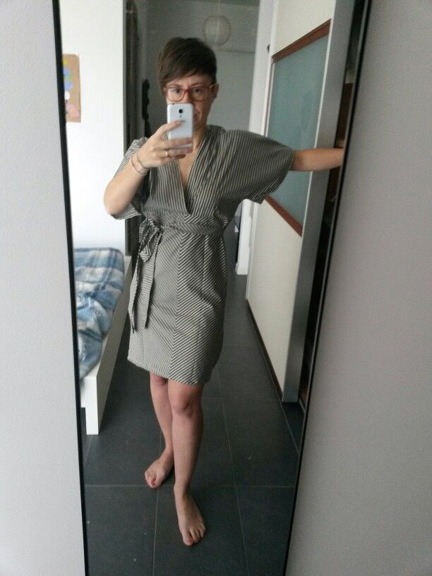 Chevron kimono dress