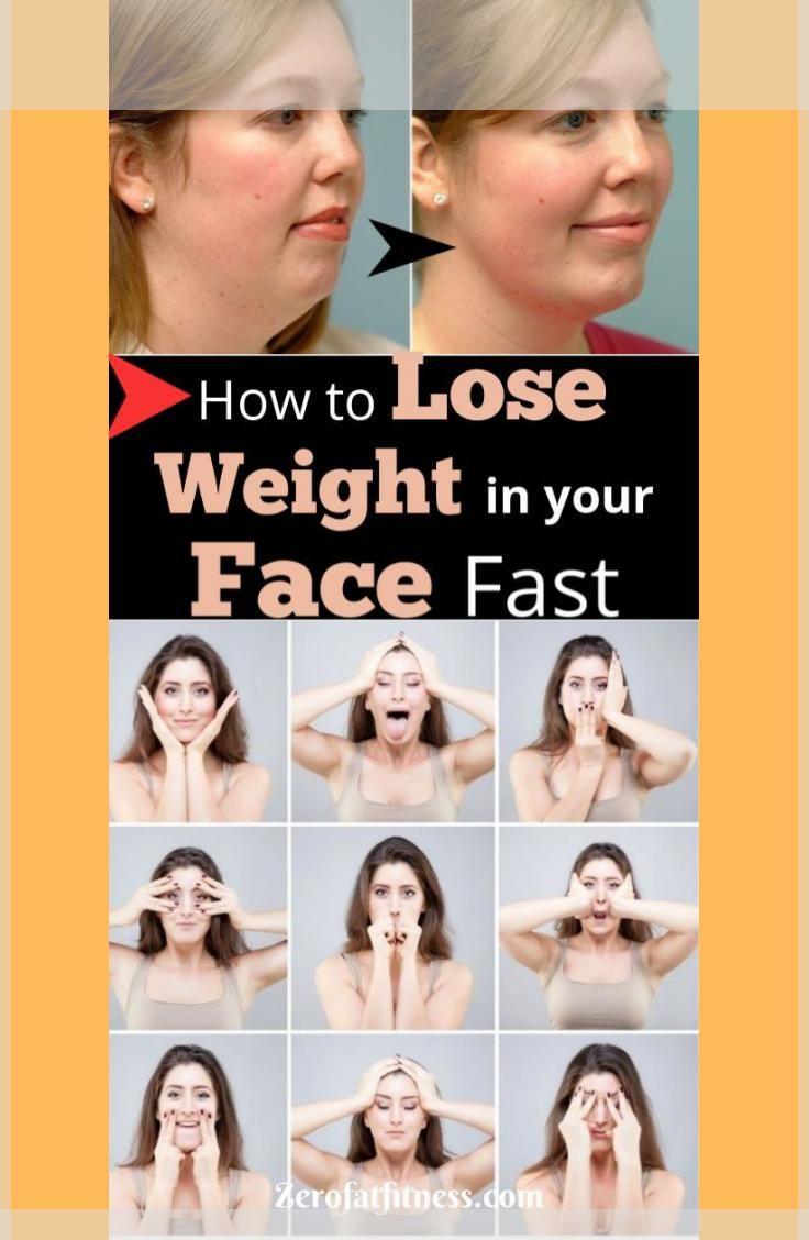 Wie man schnell und schnell Gewicht im Gesicht verliert