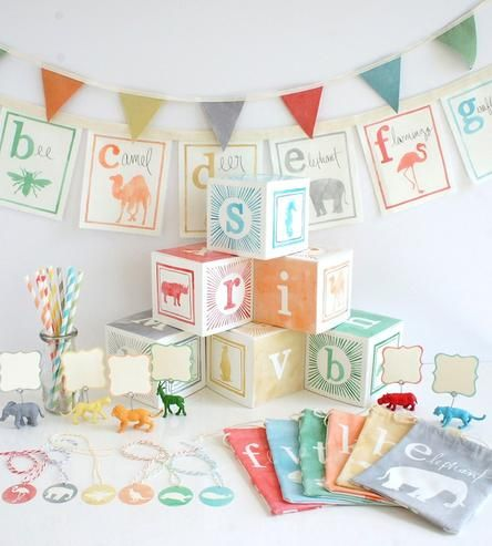Party In A Tote Kit – Animal Theme by Wonderful Collective on Scoutmob Shoppe (expensive kit, but cute idea!)