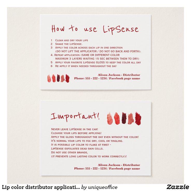 The 25+ best Lipsense business cards ideas on Pinterest | Lip ...